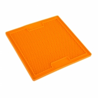 LickiMat Soother Slickmatta Orange 20 x 20 cm