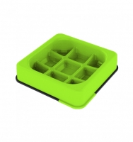 M-PETS Waffle Slow Feed Square Bowl Green