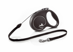 Flexi Leash Black Design with cord 5 m