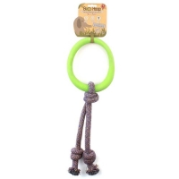 BecoHoop Tug Ring with rope Green