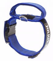 Julius K9 Color & Gray Super Grip Collar with Handle Blue