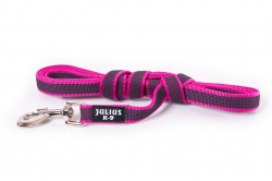 Julius K9 Color & Gray Super-Grip Line with rubber threads 3 m, without handle, Pink