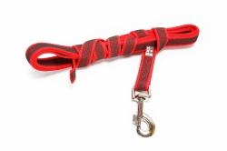 Julius K9 Color & Gray Super-Grip Line with rubber threads 3 m, without handle, Red