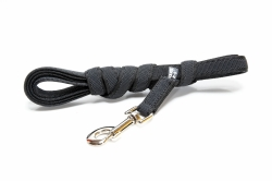 Julius K9 Color & Gray Super-Grip Line with rubber threads 3 m, without handle, Black